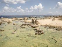 Playa en Favignana Foto de archivo