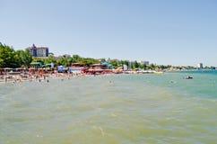 Playa en Feodosia fotografía de archivo libre de regalías