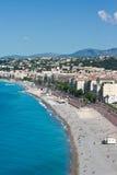 Playa en Francia, Niza Fotografía de archivo libre de regalías