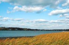 Playa en Greenwich, Connecticut Imagen de archivo libre de regalías
