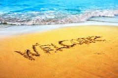 Playa en griego, el Crete foto de archivo