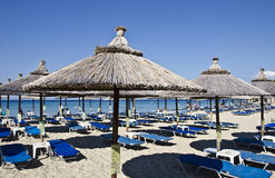Playa en Halkidiki Grecia Foto de archivo libre de regalías