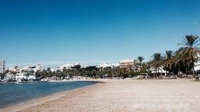Playa en Ibiza Imágenes de archivo libres de regalías