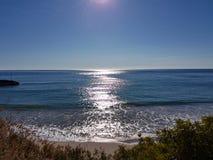 Playa en invierno Foto de archivo libre de regalías
