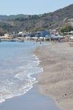 Playa en Kefalos fotos de archivo