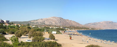 Playa en Kiotari Imagen de archivo