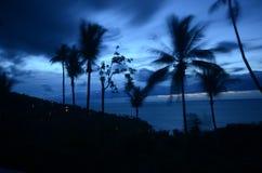 Playa en Koh Samui en la oscuridad Foto de archivo