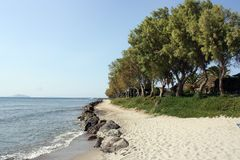 Playa en kos Foto de archivo