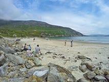 Playa en la bahía de Keem Foto de archivo libre de regalías