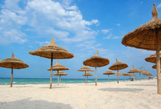 Playa en la ciudad de Souss foto de archivo