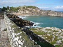 Playa en la costa costa de Océano Atlántico, España Fotografía de archivo libre de regalías