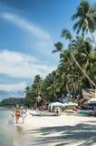 Playa en la isla de Boracay, Filipinas imágenes de archivo libres de regalías