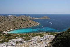 Playa en la isla de Kornati foto de archivo