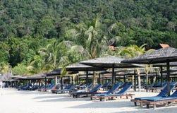 Playa en la isla de Langkawi Imágenes de archivo libres de regalías