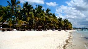 Playa en la isla de Mauricio Imagen de archivo libre de regalías