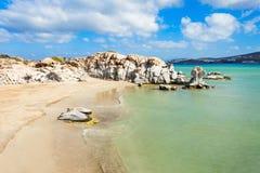 Playa en la isla de Paros fotografía de archivo