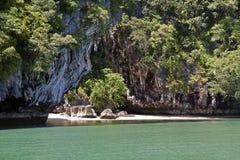 Playa en la KOH Phanak imágenes de archivo libres de regalías