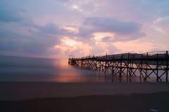 Playa en la mañana Foto de archivo libre de regalías
