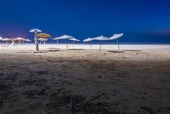 Playa en la noche Fotografía de archivo libre de regalías
