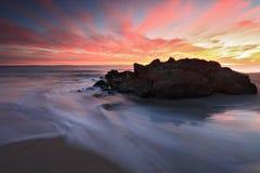 Playa en la oscuridad Fotos de archivo