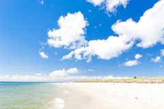 Playa en la península de los Hel Imagen de archivo