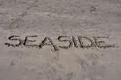 Playa en la playa Foto de archivo libre de regalías