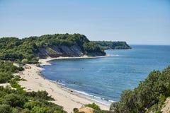 Playa en la región de Kaliningrado de la bahía Svetlogorsk foto de archivo