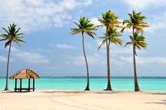 Playa en la República Dominicana Fotografía de archivo libre de regalías