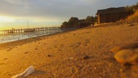 Playa en la salida del sol San Francisco Bay Imagenes de archivo