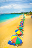 Playa en la Santa Lucía, islas caribeñas Imagen de archivo libre de regalías