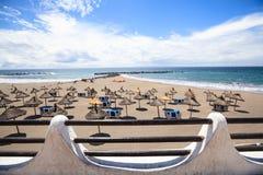 Playa en Las Américas, Tenerife, islas Canarias, España Foto de archivo libre de regalías