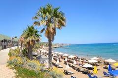 Playa en Limenas Chersonisou Foto de archivo