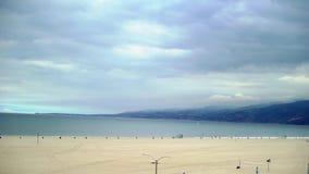 Playa en Los Angeles almacen de metraje de vídeo