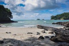 Playa en Manuel Antonio National Park, Costa Rica foto de archivo libre de regalías