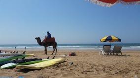 Playa en Marruecos Fotos de archivo libres de regalías