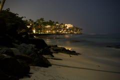 Playa en Maui en la noche Foto de archivo
