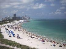 Playa en Miami, la Florida Imágenes de archivo libres de regalías