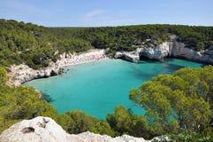Playa en Minorca Imagenes de archivo