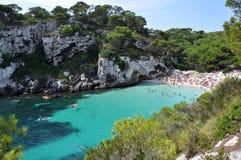 Playa en Minorca Foto de archivo