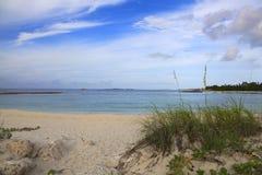 Playa en Nassau Foto de archivo libre de regalías