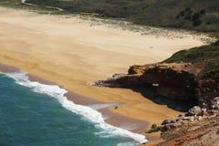 Playa en Nazare, Portugal Fotografía de archivo libre de regalías