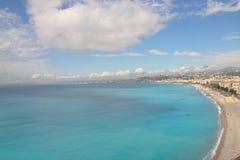 Playa en Niza Imagen de archivo libre de regalías