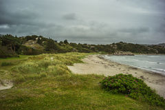 Playa en Noruega Foto de archivo