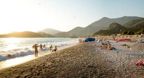 Playa en Oludeniz, Turquía imagen de archivo libre de regalías