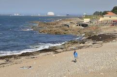 Playa en Oporto Foto de archivo libre de regalías