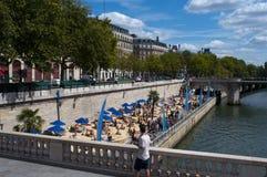 Playa en París imagen de archivo libre de regalías