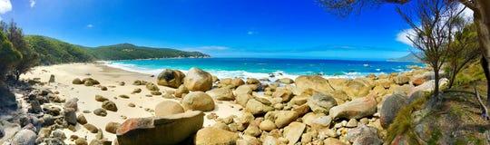 Playa en parque nacional del promontorio de Wilsons Imagen de archivo libre de regalías