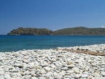 Playa en Plaka fotografía de archivo libre de regalías