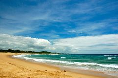 Playa en Ponta Mamoli Imagen de archivo libre de regalías