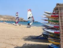 Playa en Prasonisi Fotografía de archivo libre de regalías